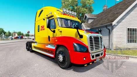 La piel de DHL para tractor Freightliner Cascadi para American Truck Simulator