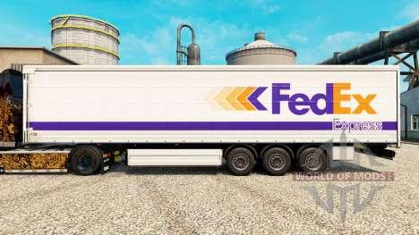 FedEx piel para remolques para Euro Truck Simulator 2