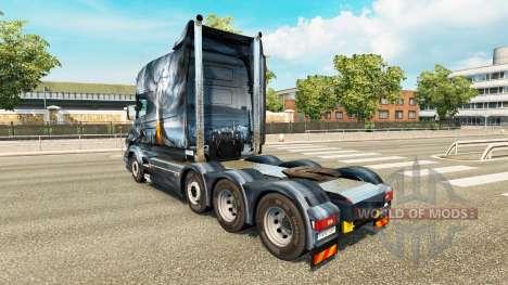 Dragon v2 de la piel para camión Scania T para Euro Truck Simulator 2