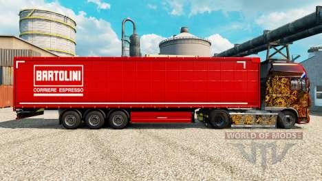 La piel Bartolini en semi para Euro Truck Simulator 2