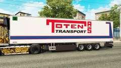 Semi-remolque frigorífico Chereau Toten Transporte para Euro Truck Simulator 2
