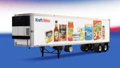 La piel de Kraft Heinz en el remolque para American Truck Simulator