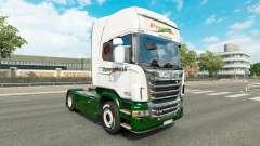 La piel Panexpress en el tractor Scania para Euro Truck Simulator 2