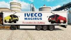La piel Iveco Magirus para remolques para Euro Truck Simulator 2