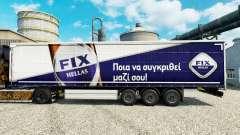 La piel de Revisión Hellas en semi para Euro Truck Simulator 2