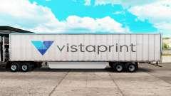 La piel Vistaprint trailer extendido para American Truck Simulator