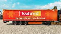 La piel en Islandia, una cortina semi-remolque para Euro Truck Simulator 2