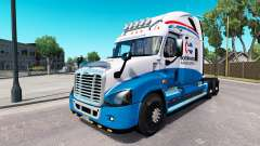 Скин de América del Norte на Freightliner Cascadia para American Truck Simulator