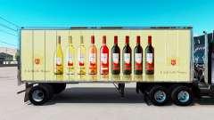 La piel de E. & J. Gallo Winery en pequeño remolque para American Truck Simulator
