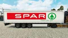 La piel Spar en una cortina semi-remolque para Euro Truck Simulator 2