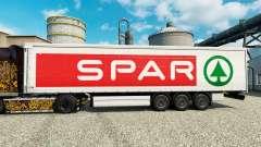 La piel SPAR para remolques para Euro Truck Simulator 2