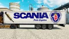 La piel Scania Logística de las Piezas para remolques para Euro Truck Simulator 2