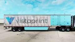 La piel de Vistaprint en una cortina semi-remolque para American Truck Simulator