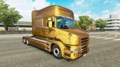 Metálico de la piel para Scania camión T para Euro Truck Simulator 2
