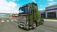 Rayas verdes de la piel para camiones Volvo para Euro Truck Simulator 2