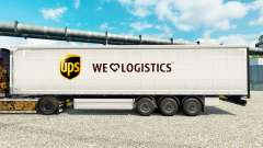 La piel UPS Logística para remolques para Euro Truck Simulator 2