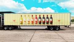 La piel de E & J Gallo Winery en el trailer extendido para American Truck Simulator