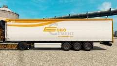 La piel EUROCEMENT para remolques para Euro Truck Simulator 2