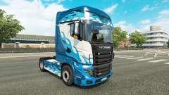 Llama azul de la piel para Scania camión R700 para Euro Truck Simulator 2