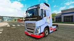 La piel de Tom Y Jerry para camiones Volvo para Euro Truck Simulator 2