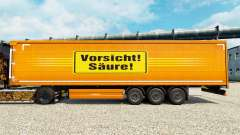 Skin Precaución Ácida for trailers para Euro Truck Simulator 2