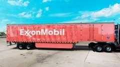 La piel de ExxonMobil en una cortina semi-remolque para American Truck Simulator