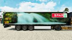 La piel Spar Natur Pur en una cortina semi-remolque para Euro Truck Simulator 2