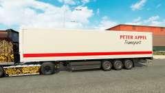 Peter Appel de la piel para remolques para Euro Truck Simulator 2