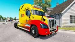 La piel de DHL para tractor Freightliner Cascadia para American Truck Simulator