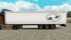 La piel De las Vigas De Vries cortina semi-remolque para Euro Truck Simulator 2