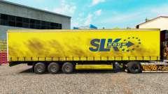 La piel SLK Kock GmbH en una cortina semi-remolque para Euro Truck Simulator 2