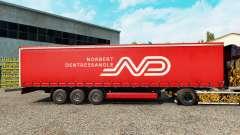 Norbert Dentressangle de la piel para la cortina semi-remolque para Euro Truck Simulator 2