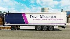 La piel de Davie Malcolm en una cortina semi-remolque para Euro Truck Simulator 2