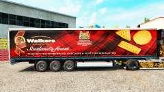 La piel de los Caminantes en una cortina semi-remolque para Euro Truck Simulator 2