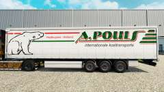 La piel A. Pouls en una cortina semi-remolque para Euro Truck Simulator 2