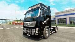 La Perla negra de la piel para camiones Volvo para Euro Truck Simulator 2