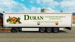 La piel Duran en una cortina semi-remolque para Euro Truck Simulator 2