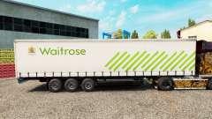 La piel de Waitrose en una cortina semi-remolque para Euro Truck Simulator 2