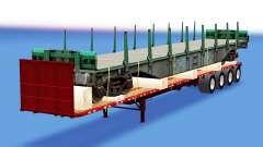 Una colección de trailers con diferentes cargas v4.0 para American Truck Simulator