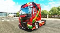 Rojo Efecto de la piel para DAF camión para Euro Truck Simulator 2