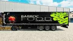 La piel Barroco de Alimentos en una cortina semi-remolque para Euro Truck Simulator 2
