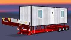 Baja de barrido con una carga cabañas para Euro Truck Simulator 2