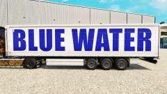 La piel en el Agua Azul de la cortina semi-remolque para Euro Truck Simulator 2