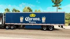 Corona Extra de la piel en el remolque refrigerado para American Truck Simulator
