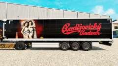 La piel de Budweiser en una cortina semi-remolque para Euro Truck Simulator 2