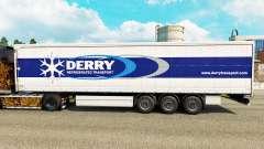 La piel Derry en una cortina semi-remolque para Euro Truck Simulator 2