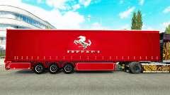 Cortina semi-remolque de Ferrari para Euro Truck Simulator 2