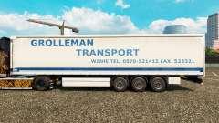 La piel Grolleman de Transporte en semi-remolque de la cortina para Euro Truck Simulator 2