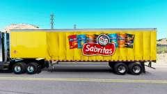 La piel de Sabritas en una cortina semi-remolque para American Truck Simulator