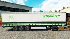 La piel Verhoeven en una cortina semi-remolque para Euro Truck Simulator 2